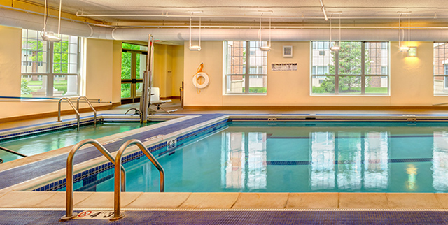 community pool for active senior living